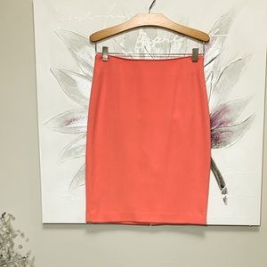 H&M Coral Pencil Skirt Size 4